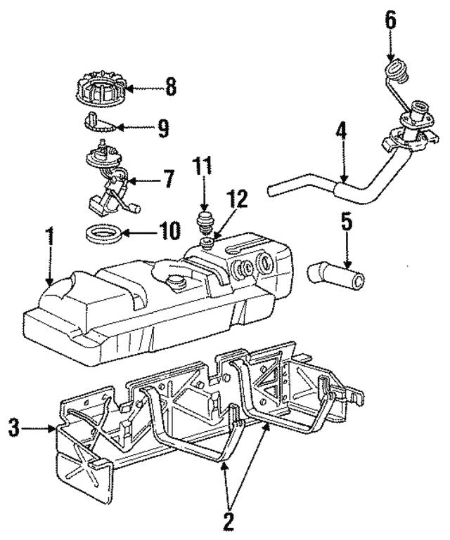 Ford F150 F250 F350 Mustang Ranger Fuel Tank Vapor Valve Seperator Seal OEM  NEW