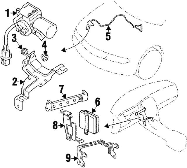 Mitsubishi Vacuum Hose Mn162840