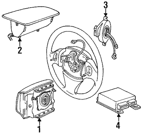 Air Bag Components For 1996 Chrysler Cirrus