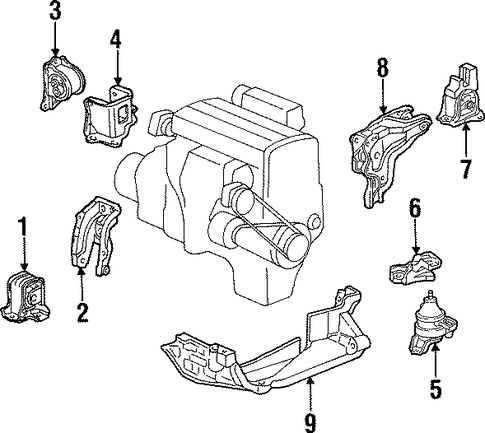 Rubber, Transmission Mounting