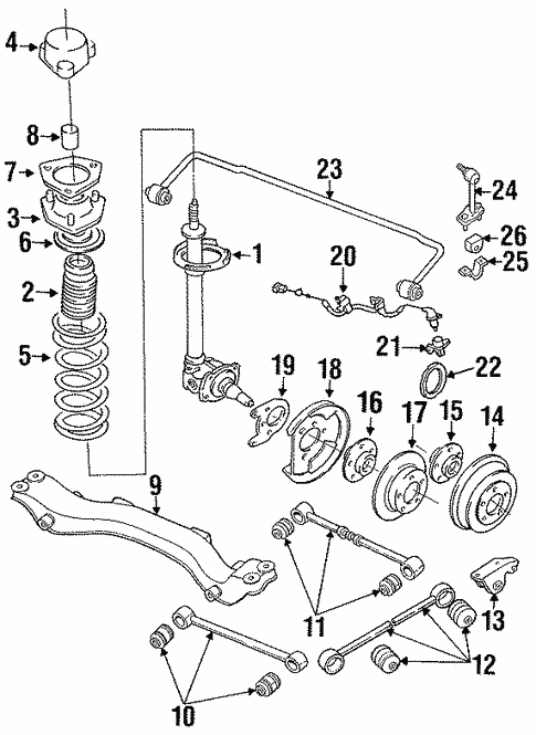 Oem 1993 Nissan Maxima Anti Lock Brakes Parts