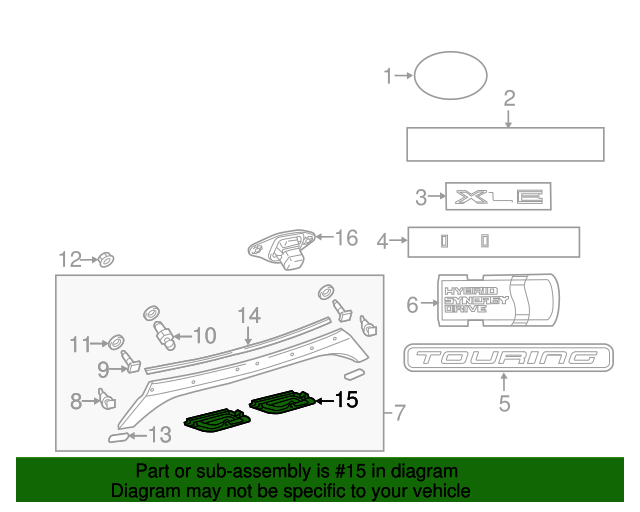 Genuine Toyota 76814-07010 Door Molding