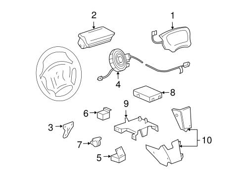Oem 2001 Chevrolet Cavalier Air Bag Components Parts