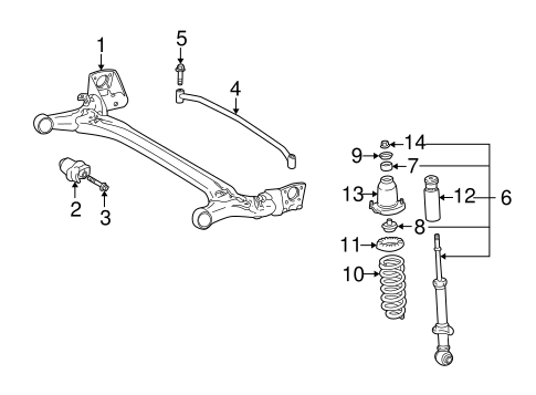 REAR SUSPENSION/REAR SUSPENSION for 2003 Toyota Matrix #1