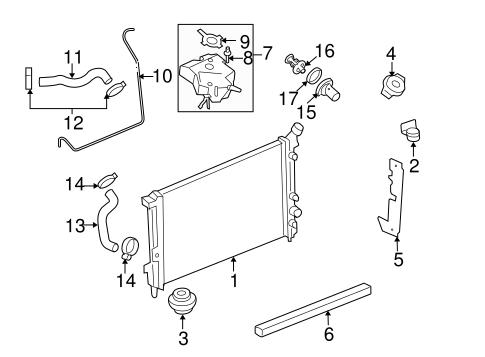 Radiator Components For 2006 Pontiac Montana Gmpartsdirect Com