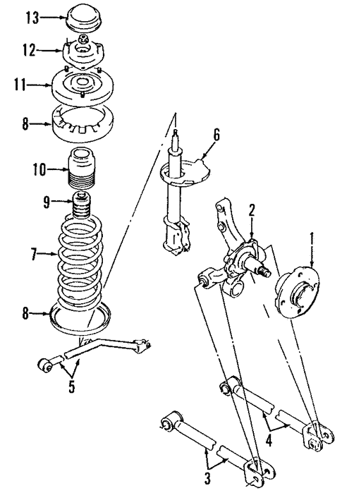 rear suspension for 1998 suzuki esteem #0