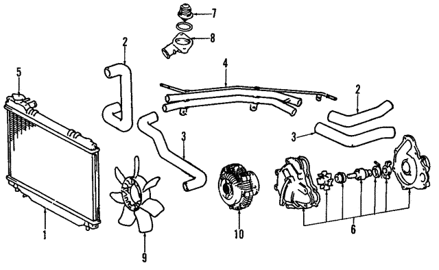tube assembly - toyota (16577-76052)