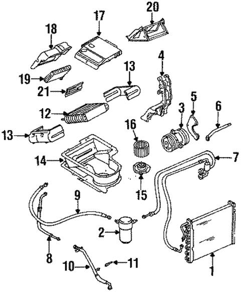 blower motor \u0026 fan for 1992 chevrolet lumina apv gm parts club 1992 Chevrolet Lumina APV Seats
