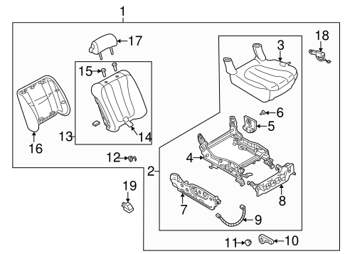Front Seat Components For 1998 Mazda Millenia