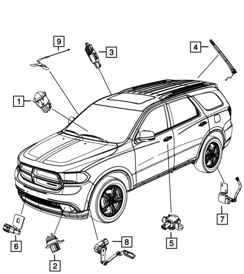 Sensors For 2014 Dodge Durango