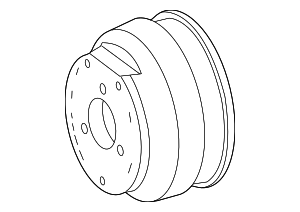Pulley - Mercedes-Benz (000-466-26-15)