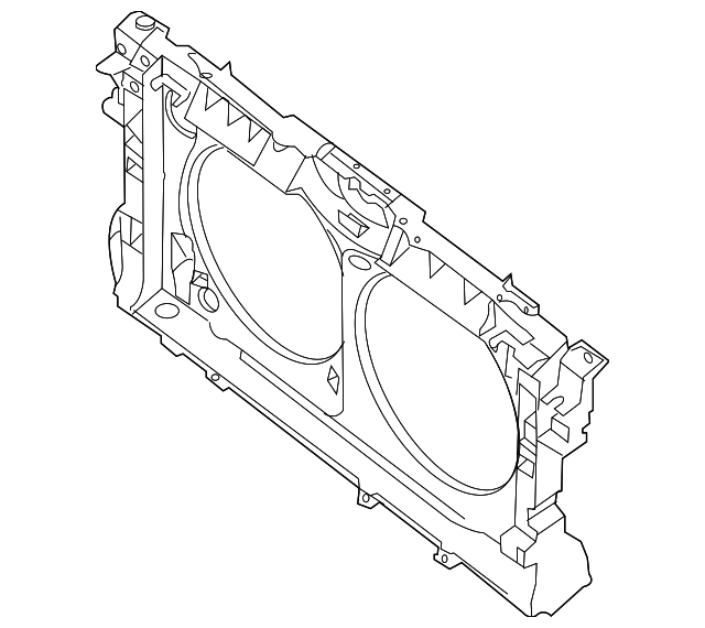 Radiator Support Nissan 62500 3ta0a