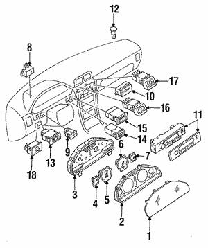 gauges nissan parts plus 2013 Nissan Versa Battery speedometer head