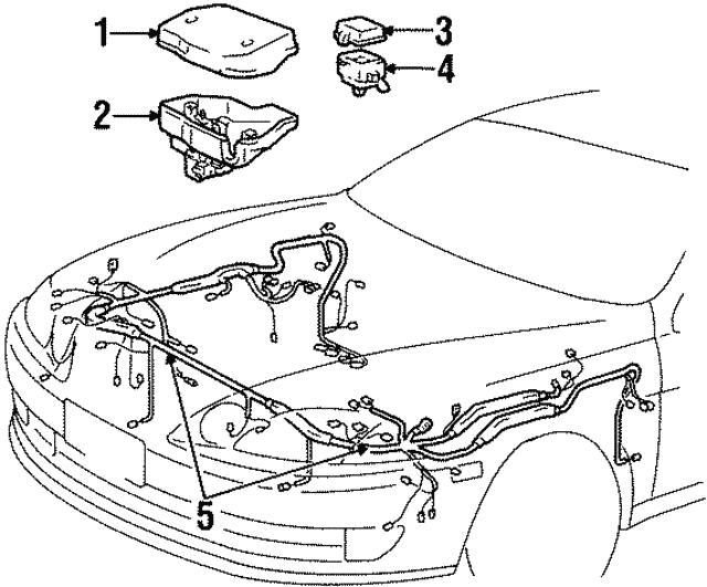 1993 1994 Lexus Sc400 Wire Harness 8211124602