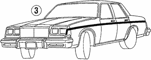Body/Stripe Tape for 1988 Buick LeSabre #3