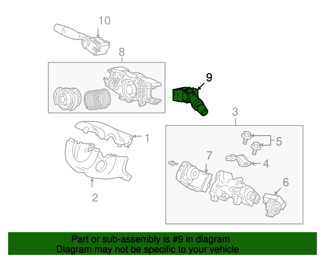 Switch Assembly, Wiper