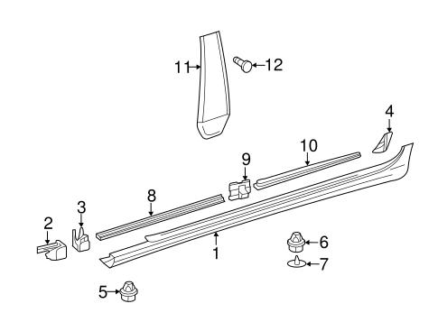 Exterior trim pillars for 2015 mercedes benz cls 550 for Mercedes benz exterior parts
