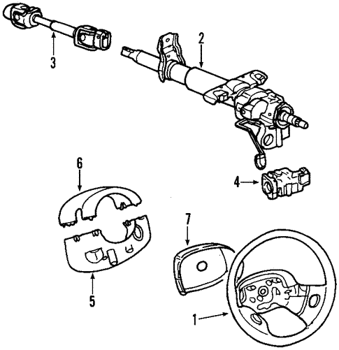 Steering Column for 2000 Saturn LS #0