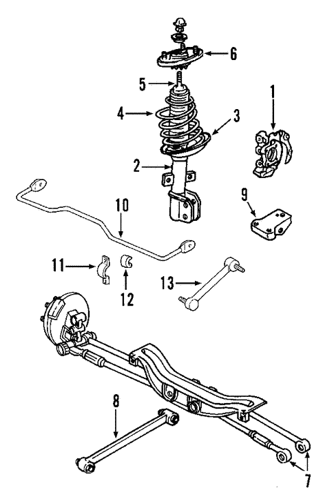 oem 2008 pontiac grand prix rear suspension parts