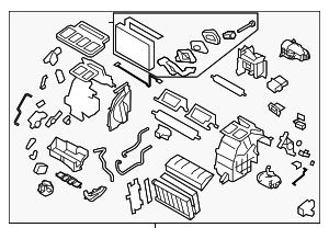Heater Unit Assembly / VIN Required - Subaru (72110FJ081)