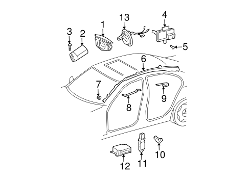 Air Bag Components for 2009 Mercedes-Benz E 320 #1