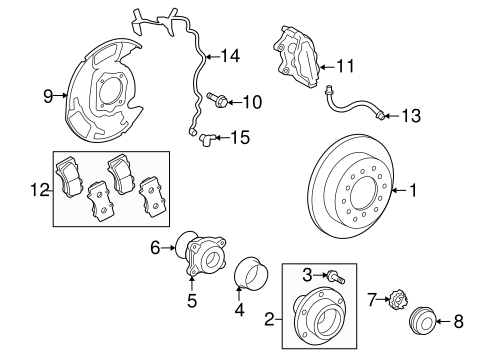 BRAKES/BRAKE COMPONENTS for 2009 Toyota Sequoia #2