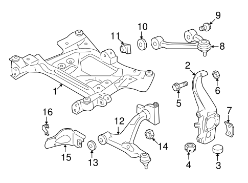 Front Suspension/Suspension Components for 2015 Nissan GT-R #1