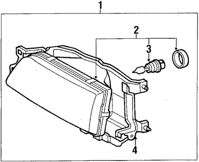 1989 1991 Toyota Camry Mount Panel 81102 03010