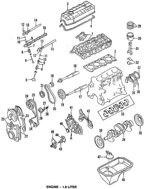 Engine For 1993 Mitsubishi Eclipse Gs