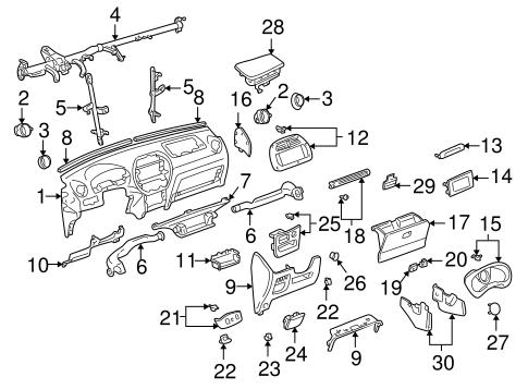 Instrument Panel For 2005 Toyota Rav4 Toyota Parts Center
