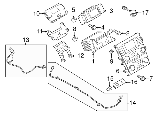 2013 2019 Ford Fusion Connector Wire Ds7z 14d202 D