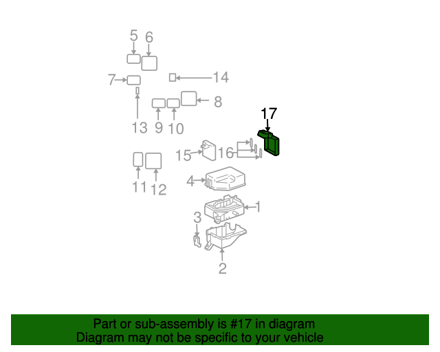 fuse box cover toyota 82621 52011 toyota parts rh parts olathetoyota com 2015 Toyota 4Runner Fuse Box Toyota Fuse Box Diagram