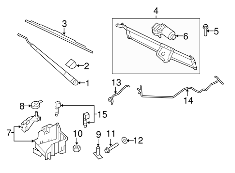 Body/Wiper & Washer Components for 2011 Ford Expedition #2
