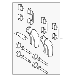 Brake Pads - Mercedes-Benz (005-420-53-20)