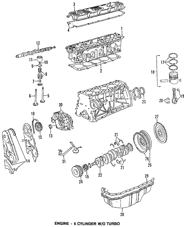 Valve Springs Audi 078109633a: Audi 5 Valve Engine Diagram At Hrqsolutions.co