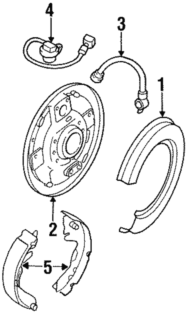 Shoe Kit Brake, Rear