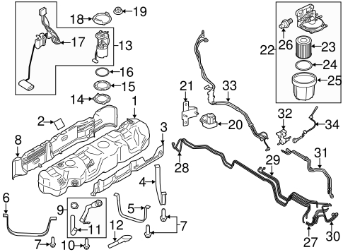 Fuel System Components For 2016 Ford Transit 250
