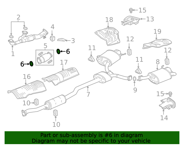 Acura 18393-SJA-A01 Catalytic Converter Gasket