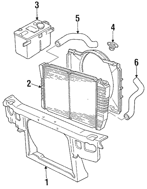 Radiator Components For 1993 Ford Thunderbird