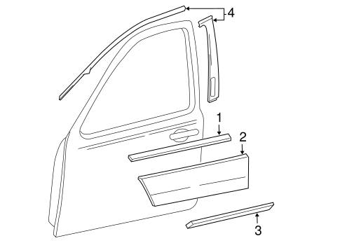 Body/Exterior Trim - Front Door for 2006 Ford Freestyle #1