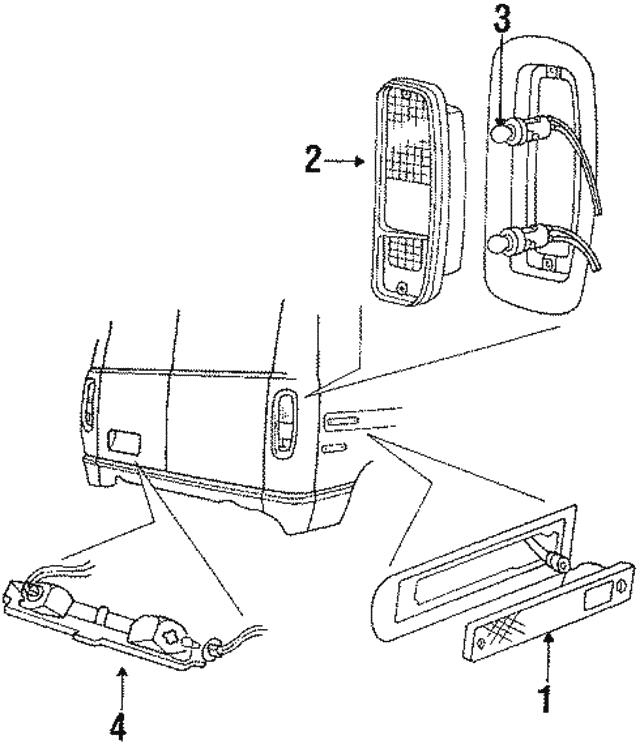1984 1997 Ford License Lamp E83z13550b