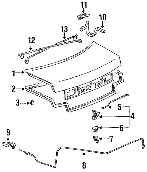BODY/LID & COMPONENTS for 1996 Toyota Camry #1