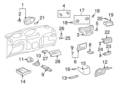 BODY/INSTRUMENT PANEL COMPONENTS for 2003 Toyota Echo #1