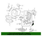 Toyota Genuine 71691-60071-B0 Seat Cushion Hinge Cover