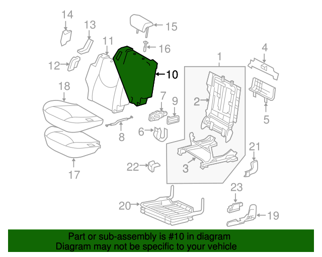 TOYOTA Genuine 71651-42090 Seat Back Pad