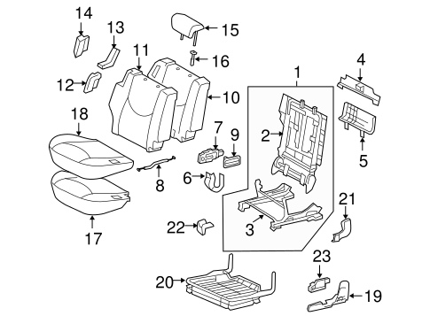 BODY/SECOND ROW SEATS for 2011 Toyota RAV4 #2