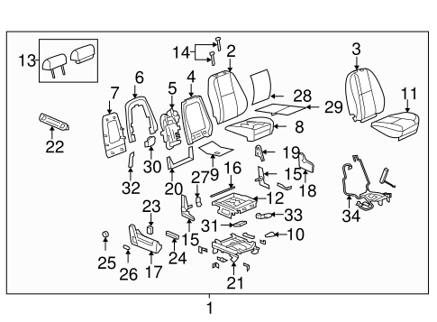 Front Seat Components for 2007 Chevrolet Tahoe #6
