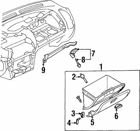 Glove Box For 2001 Mitsubishi Mirage Es