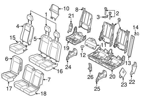 Body/Third Row Seats for 2015 Ford Transit-150 #4