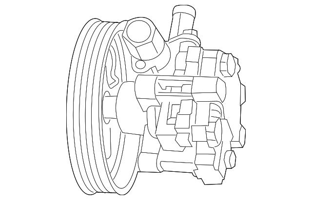 2011 2014 Mopar Power Steering Pump 5154371ab